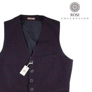 【46】 ROSI COLLECTION ロージコレクション ジレ メンズ 秋冬 ネイビー 紺 並行輸入品 ベスト|utsubostock