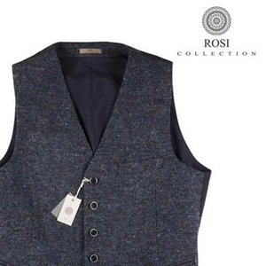 【54】 ROSI COLLECTION ロージコレクション ジレ メンズ 秋冬 ネイビー 紺 並行輸入品 ベスト 大きいサイズ|utsubostock