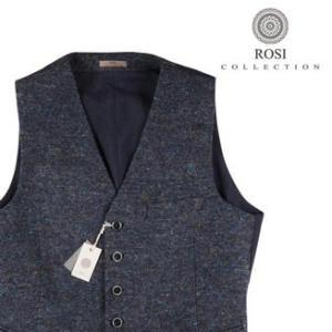 【58】 ROSI COLLECTION ロージコレクション ジレ メンズ 秋冬 ネイビー 紺 並行輸入品 ベスト 大きいサイズ|utsubostock