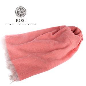 ROSI COLLECTION ストール メンズ 秋冬 ピンク カシミヤ100% ロージコレクション 並行輸入品|utsubostock