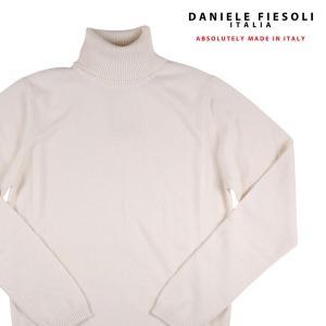 DANIELE FIESOLI タートルネックセーター メンズ 秋冬 M/46 ホワイト 白 カシミヤ100% ダニエレフィエゾーリ 並行輸入品|utsubostock
