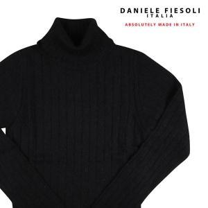 DANIELE FIESOLI タートルネックセーター メンズ 秋冬 L/48 ブラック 黒 アルパカ混 ダニエレフィエゾーリ 並行輸入品|utsubostock