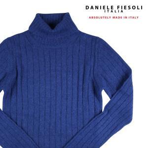 DANIELE FIESOLI タートルネックセーター メンズ 秋冬 L/48 ブルー 青 アルパカ混 ダニエレフィエゾーリ 並行輸入品|utsubostock