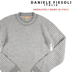 【S】 DANIELE FIESOLI ダニエレフィエゾーリ 丸首セーター メンズ 秋冬 アルパカ混 グレー 灰色 並行輸入品 ニット|utsubostock