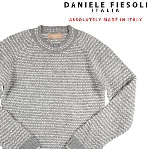 【XL】 DANIELE FIESOLI ダニエレフィエゾーリ 丸首セーター メンズ 秋冬 アルパカ混 グレー 灰色 並行輸入品 ニット|utsubostock
