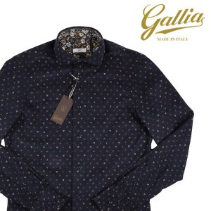 Gallia 長袖シャツ メンズ 秋冬 42/2XL ネイビー 紺 コーデュロイ ガリア 大きいサイズ 並行輸入品|utsubostock