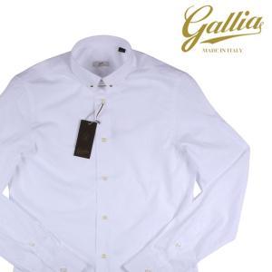 【38】 Gallia ガリア 長袖シャツ メンズ ホワイト 白 並行輸入品 ビジネスシャツ|utsubostock