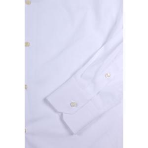 【38】 Gallia ガリア 長袖シャツ メンズ ホワイト 白 並行輸入品 ビジネスシャツ|utsubostock|03