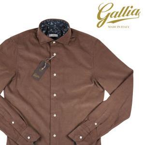 Gallia 長袖シャツ メンズ 秋冬 43/3XL カーキ コーデュロイ ガリア 大きいサイズ 並行輸入品|utsubostock