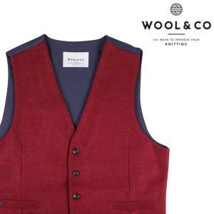 【L】 WOOL&CO ウールアンドコー ジレ メンズ 秋冬 レッド 赤 並行輸入品 ベスト utsubostock