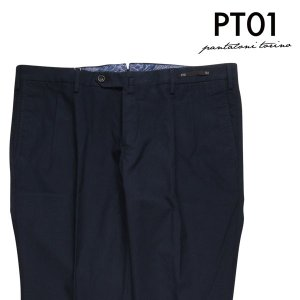 【54】 PT01 ピーティー ゼロウーノ コットンパンツ MP16 メンズ 春夏 ネイビー 紺 並行輸入品 ズボン 大きいサイズ|utsubostock