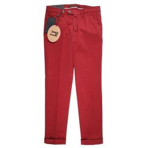 B SETTECENTO コットンパンツ メンズ 32/L レッド 赤 ビーセッテチェント 並行輸入品|utsubostock|02