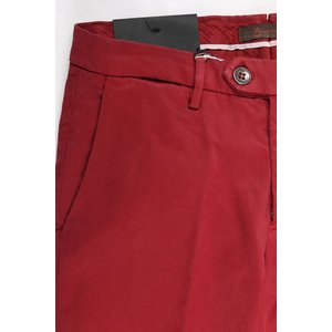 B SETTECENTO コットンパンツ メンズ 33/XL レッド 赤 ビーセッテチェント 並行輸入品|utsubostock|03