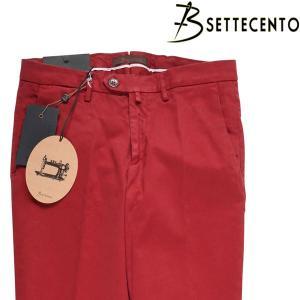 B SETTECENTO コットンパンツ 40/5XL以上 メンズ レッド 赤 ビーセッテチェント 大きいサイズ 並行輸入品|utsubostock
