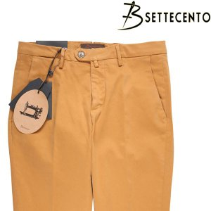 B SETTECENTO コットンパンツ メンズ 44/5XL以上 イエロー 黄 ビーセッテチェント 大きいサイズ 並行輸入品|utsubostock