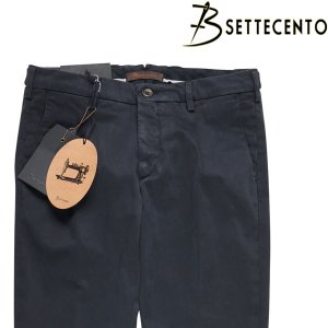 【33】 B SETTECENTO ビーセッテチェント コットンパンツ メンズ ネイビー 紺 並行輸入品 ズボン|utsubostock