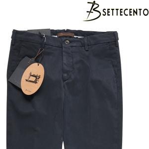 【34】 B SETTECENTO ビーセッテチェント コットンパンツ メンズ ネイビー 紺 並行輸入品 ズボン 大きいサイズ|utsubostock