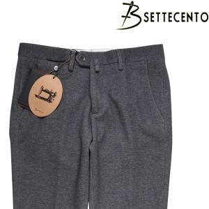 B SETTECENTO ニットパンツ メンズ 38/5XL グレー 灰色 ビーセッテチェント 大きいサイズ 並行輸入品|utsubostock