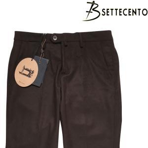 B SETTECENTO スラックス メンズ 秋冬 35/2XL ブラウン 茶 ビーセッテチェント 大きいサイズ 並行輸入品|utsubostock