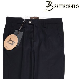 【33】 B SETTECENTO ビーセッテチェント スラックス メンズ 秋冬 ネイビー 紺 並行輸入品 ズボン|utsubostock