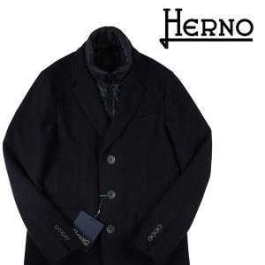 HERNO チェスターコート メンズ 秋冬 50/XL ネイビー 紺 メルトン HERNO TECH CA0045U ヘルノ 並行輸入品|utsubostock
