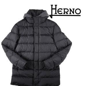 【54】 HERNO ヘルノ ダウンジャケット PI01466U メンズ 秋冬 ブラック 黒 並行輸入品 アウター トップス 大きいサイズ|utsubostock
