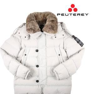 【L】 PEUTEREY ピューテリー ダウンジャケット GRIPEN 01 FUR メンズ 秋冬 ホワイト 白 並行輸入品 アウター トップス utsubostock