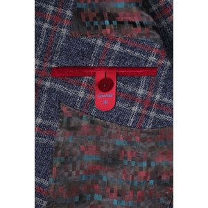 【52】 GIACCHE ジャッケ ジャケット メンズ 秋冬 チェック ネイビー 紺 並行輸入品 アウター トップス 大きいサイズ|utsubostock|11