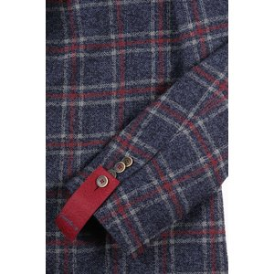 【52】 GIACCHE ジャッケ ジャケット メンズ 秋冬 チェック ネイビー 紺 並行輸入品 アウター トップス 大きいサイズ|utsubostock|04