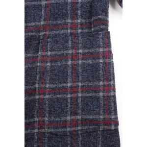 【52】 GIACCHE ジャッケ ジャケット メンズ 秋冬 チェック ネイビー 紺 並行輸入品 アウター トップス 大きいサイズ|utsubostock|05