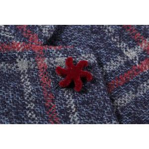 【52】 GIACCHE ジャッケ ジャケット メンズ 秋冬 チェック ネイビー 紺 並行輸入品 アウター トップス 大きいサイズ|utsubostock|06