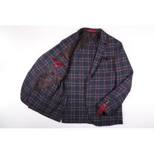 【52】 GIACCHE ジャッケ ジャケット メンズ 秋冬 チェック ネイビー 紺 並行輸入品 アウター トップス 大きいサイズ|utsubostock|10