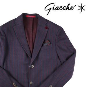 【50】 GIACCHE ジャッケ ジャケット メンズ 秋冬 ストライプ ネイビー 紺 並行輸入品 アウター トップス|utsubostock