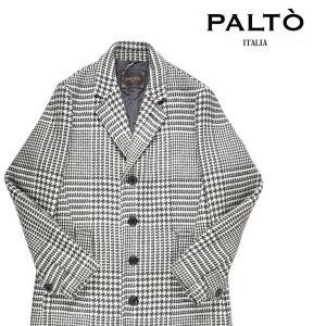【48】 PALTO パルト コート メンズ 秋冬 千鳥 ホワイト 白 並行輸入品 アウター トップス|utsubostock