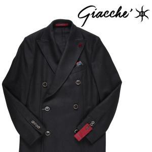 【50】 GIACCHE ジャッケ コート メンズ 秋冬 ブラック 黒 並行輸入品 アウター トップス|utsubostock