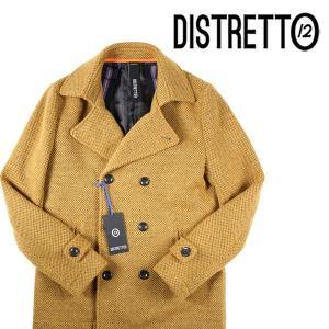 【46】 DISTRETTO 12 ディストレット12 ピーコート メンズ 秋冬 イエロー 黄 並行輸入品 アウター トップス|utsubostock