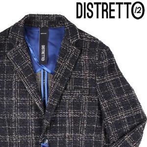 【48】 DISTRETTO 12 ディストレット12 ジャケット メンズ 秋冬 チェック ネイビー 紺 並行輸入品 アウター トップス|utsubostock