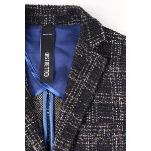 【48】 DISTRETTO 12 ディストレット12 ジャケット メンズ 秋冬 チェック ネイビー 紺 並行輸入品 アウター トップス|utsubostock|03