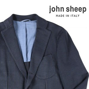 【48】 JOHN SHEEP ジョン・シープ ジャケット メンズ 秋冬 ストライプ ブルー 青 並行輸入品 アウター トップス|utsubostock