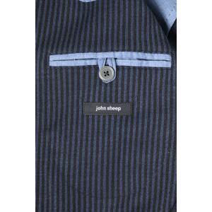 【54】 JOHN SHEEP ジョン・シープ ジャケット メンズ 秋冬 ストライプ ブルー 青 並行輸入品 アウター トップス 大きいサイズ utsubostock 11