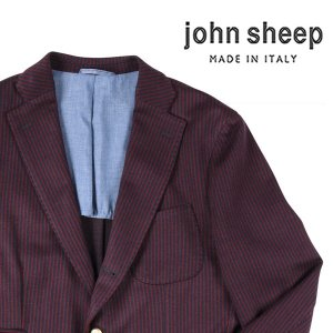 【54】 JOHN SHEEP ジョン・シープ ジャケット メンズ 秋冬 ストライプ レッド 赤 並行輸入品 アウター トップス 大きいサイズ|utsubostock