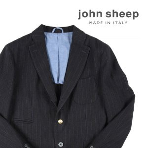 【52】 JOHN SHEEP ジョン・シープ ジャケット メンズ ストライプ ブラック 黒 並行輸入品 アウター トップス 大きいサイズ|utsubostock