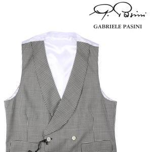 【52】 GABRIELE PASINI ガブリエレ・パジーニ ジレ メンズ 春夏 チェック ホワイト 白 並行輸入品 ベスト 大きいサイズ|utsubostock