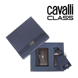 CAVALLI CLASS black ギフトセット メンズ ブラウン 茶 レザー 並行輸入品|utsubostock