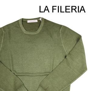 【46】 LA FILERIA ラフィレリア 丸首セーター メンズ 秋冬 グリーン 緑 並行輸入品 ニット|utsubostock