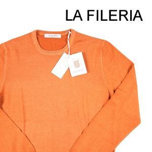 【48】 LA FILERIA ラフィレリア 丸首セーター メンズ 秋冬 オレンジ 並行輸入品 ニット|utsubostock