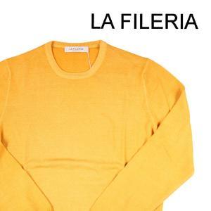 【46】 LA FILERIA ラフィレリア 丸首セーター メンズ 秋冬 イエロー 黄 並行輸入品 ニット|utsubostock
