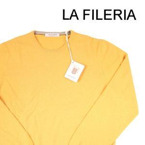 【54】 LA FILERIA ラフィレリア 丸首セーター メンズ 秋冬 カシミヤ混 イエロー 黄 並行輸入品 ニット 大きいサイズ|utsubostock