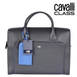 CAVALLI CLASS ブリーフケース メンズ ブラック 黒 レザー カヴァッリクラス 並行輸入品|utsubostock