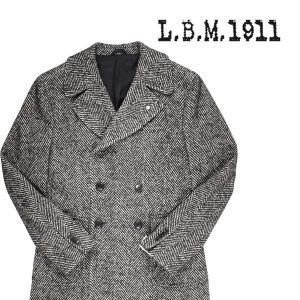 【48】 L.B.M.1911 エルビーエム コート 87024 メンズ 秋冬 ヘリンボーン ブラック 黒 並行輸入品 アウター トップス|utsubostock